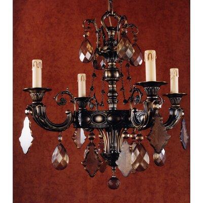 Martinez Y Orts Semi-Cut Trim 4 Light Candle Chandelier