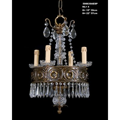 Martinez Y Orts 4 Light Crystal Chandelier