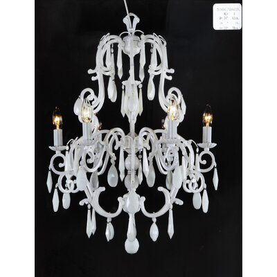 Martinez Y Orts 6 Light Candle-Style Chandelier