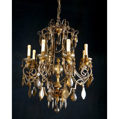 Martinez Y Orts Patine 8 Light Crystal Chandelier