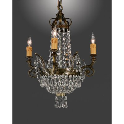 Martinez Y Orts Empire 4 Light Crystal Chandelier