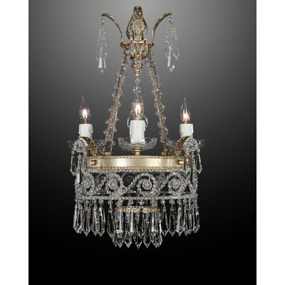 Martinez Y Orts Empire Bohemia 4 Light Crystal Chandelier