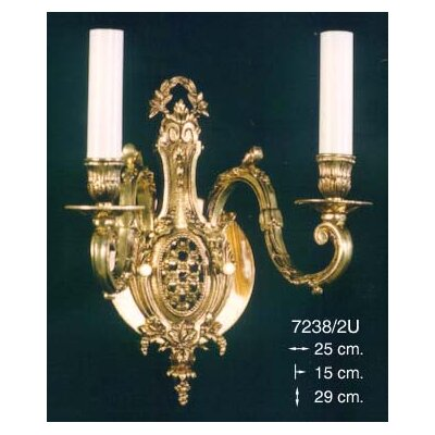 Martinez Y Orts Casted 2 Light Candle Wall Light