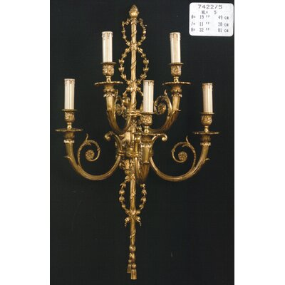Martinez Y Orts Casted Wall 5 Light Candle Wall Light