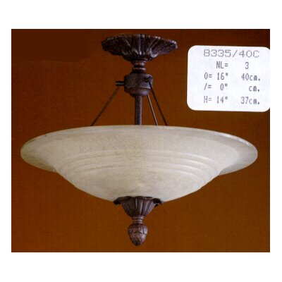 Martinez Y Orts 3 Light Semi-Flush Ceiling Light