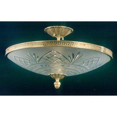 Martinez Y Orts Cut 4 Light Semi-Flush Ceiling Light
