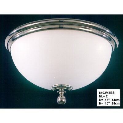 Martinez Y Orts 2 Light Flush Ceiling Light