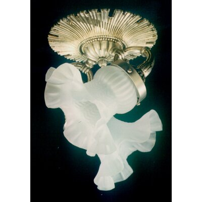 Martinez Y Orts Casted 2 Light Semi-Flush Ceiling Light