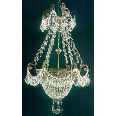 Martinez Y Orts Casted Full Cut Trim 3 Light Crystal Chandelier