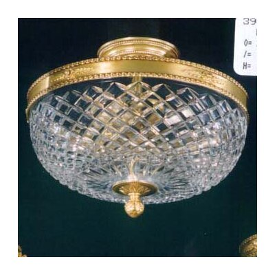 Martinez Y Orts Cut 3 Light Semi-Flush Ceiling Light