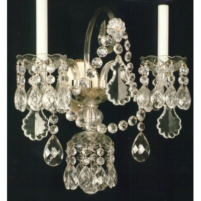 Martinez Y Orts Crystalwall 2 Light Candle Wall Light