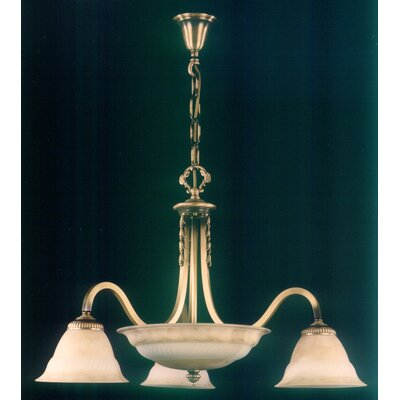 Martinez Y Orts Marbleiced Tulips 6 Light Style Chandelier