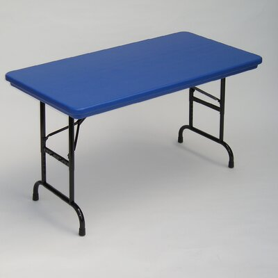 """30"""" Rectangular Folding Table Color: Red"""