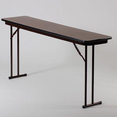 "Rectangular Folding Table Size: 18"" x 60"""