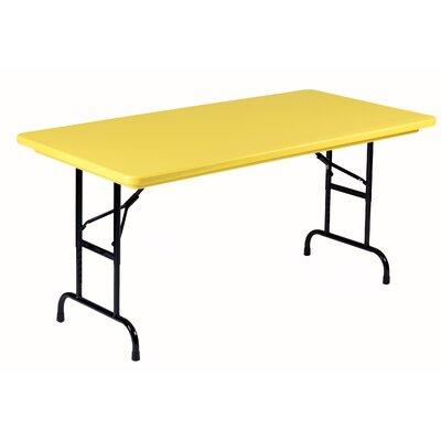 "48"" Rectangular Folding Table Color: Yellow"