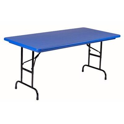 "48"" Rectangular Folding Table Color: Blue"