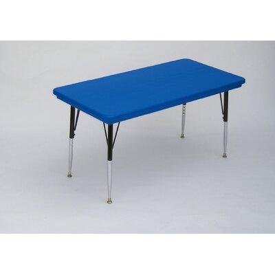 "72"" x 30"" Rectangular Activity Table Tabletop Finish: Gray Granite"
