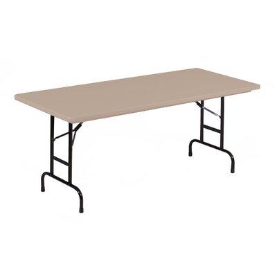 "Rectangular Folding Table Color: Mocha Granite, Size: 30"" W x 60"" L"