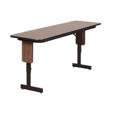 "Rectangular Folding Table Finish: Gray Granite, Size: 96"" W x 24"" D"