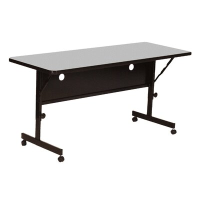 "Flipper Training Table with Modesty Panel Size: 48"" W, Tabletop Finish: Gray Granite"