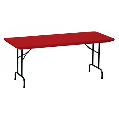"""Rectangular Folding Table Color: Red, Size: 30 x 72"""""""