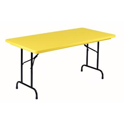"Rectangular Folding Table Color: Yellow, Size: 30 x 72"""