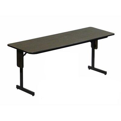"Rectangular Folding Table Finish: Walnut, Size: 72"" W x 24"" D"