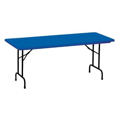 "Rectangular Folding Table Color: Blue, Size: 30 x 72"""