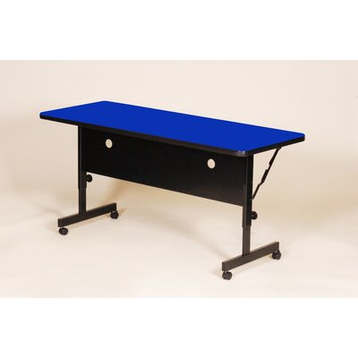"Flipper Training Table with Modesty Panel Size: 48"" W, Tabletop Finish: Blue"