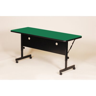"""Flipper Training Table with Modesty Panel Tabletop Finish: Green, Size: 60"""" W"""
