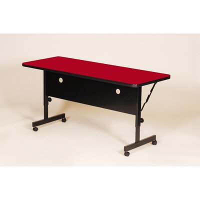 """Flipper Training Table with Modesty Panel Tabletop Finish: Red, Size: 72"""" W"""