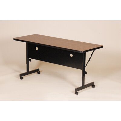 """Flipper Training Table with Modesty Panel Tabletop Finish: Walnut, Size: 72"""" W"""