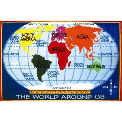 Fun Rugs Fun Time World Map Classroom Area Rug
