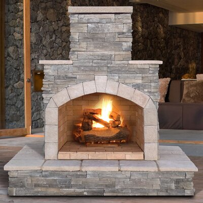 Cultured Stone Propane/Natural Gas Outdoor Fireplace