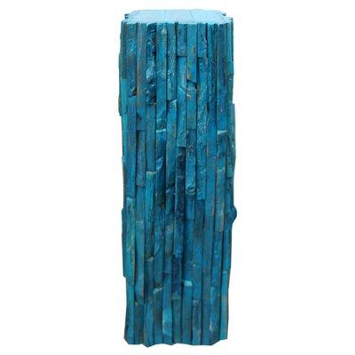 """Pedestal Plant Stand Size: 40"""" H x 9"""" W x 9"""" D, Color: Blue"""