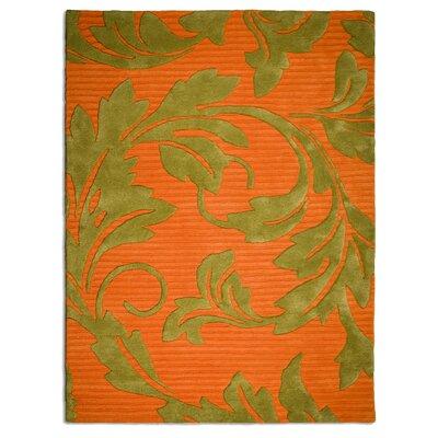 Anna V Rugs Hand-Woven Orange/Beige Area Rug