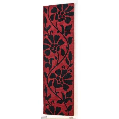 Anna V Rugs Hand-Woven Red Area Rug