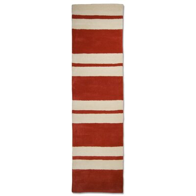 Anna V Rugs Hand-Woven Red/Cream Area Rug