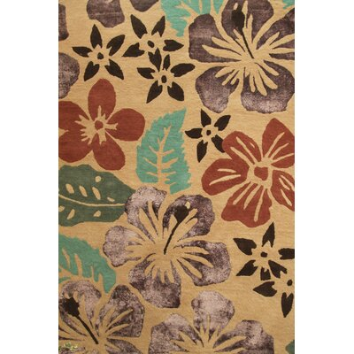 Anna V Rugs Hand-Woven Beige Area Rug