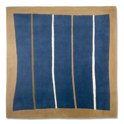 Anna V Rugs Hand-Woven Blue/Beige Area Rug