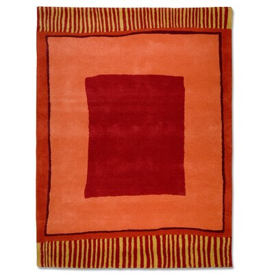 Anna V Rugs Hand-Woven Red/Orange Area Rug