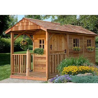 Santa Rosa 8 ft. W x 12 ft. D Wooden Storage Shed