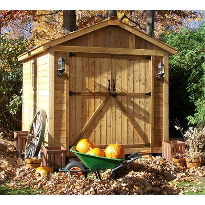 SpaceMaker 8 ft. W x 12 ft. D Wooden Storage Shed