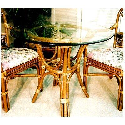 "Delta Dining Table Color: Royal Oak, Size: 48"" Diameter Glass Top"