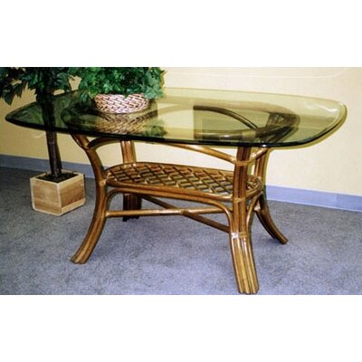 """Delta Dining Table Color: Royal Oak, Size: 42"""" x 72"""" Glass Top"""