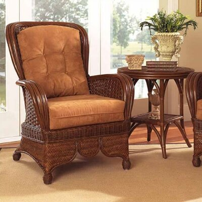 Moroccan Wing back Chair Upholstery: 612