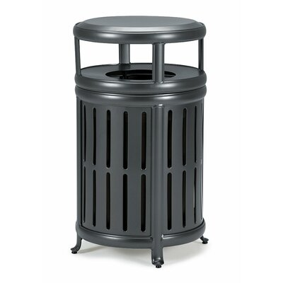 Receptacle 32 Gallon Trash Can Frame Color: Woodland