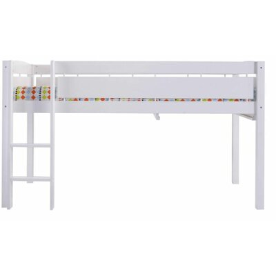 Whistler Junior Twin Bed with Ladder Color: White