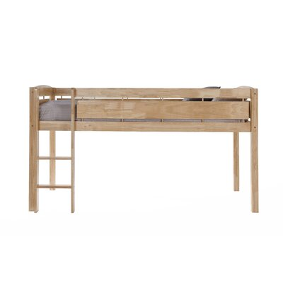 Whistler Junior Twin Bed with Ladder Color: Natural