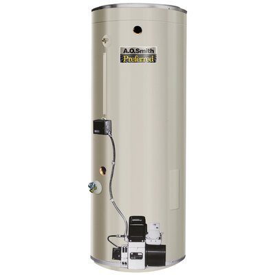 COF-385S Commercial Tank Type Water Heater Oil Fired 75 Gal Lime Tamer 385,000 BTU Input